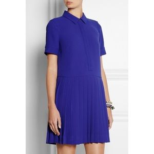 J. Crew Collection Pleated Crepe Shirt Dress